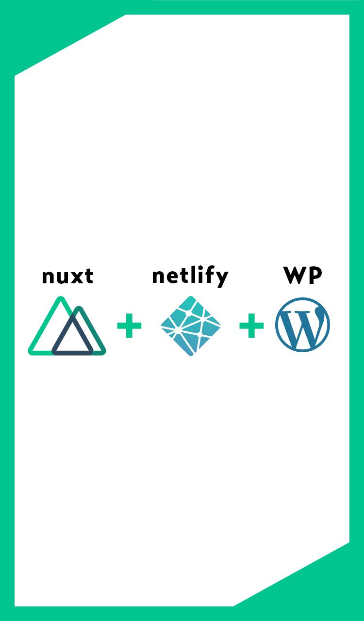 nuxt + netlify + WP